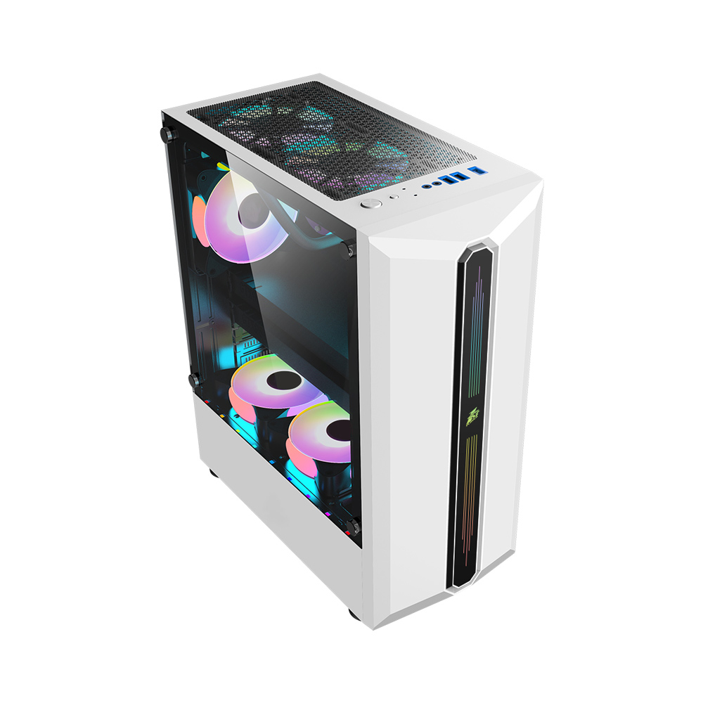 1st Player RB3 Mid Tower ATX Gaming Case (White)