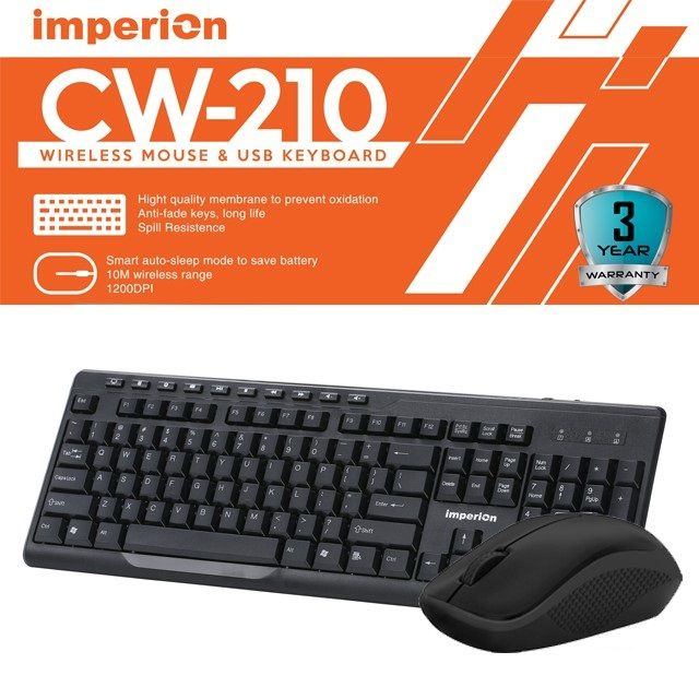 Imperion CW-210 Multimedia Wireless Keyboard & Mouse