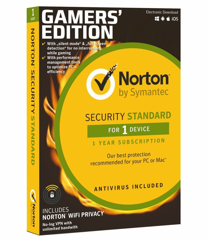 Norton Security Standard 1 User (Gamers Edition)